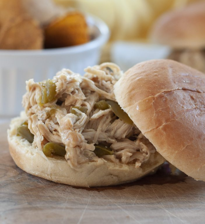 Crock Pot Pulled Cheesesteak Chicken recipe is an incredibly easy family meal made right in your slow cooker and packed with flavor! You can keep it warm and serve it for a party or potluck!