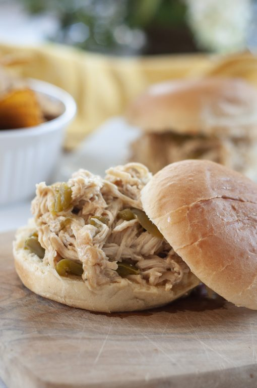 Crock Pot Pulled Cheesesteak Chicken recipe is an incredibly easy family meal made right in your slow cooker and packed with flavor! You can serve it for a party or potluck!