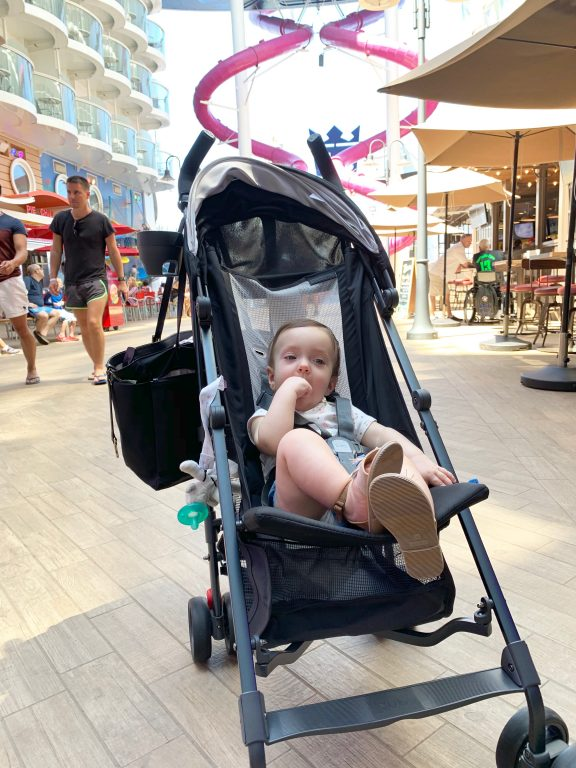Royal Caribbean Symphony of the Seas cruise. Uppa baby umbrella stroller.