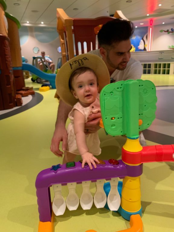 Play area for babies on board Royal Caribbean Symphony of the Seas cruise.