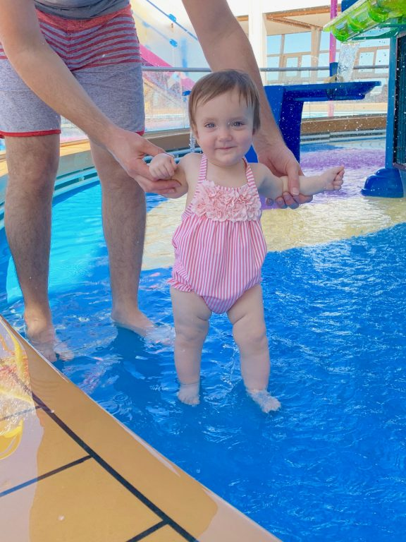 Baby Splash zone pool on board Royal Caribbean Symphony of the Seas cruise.