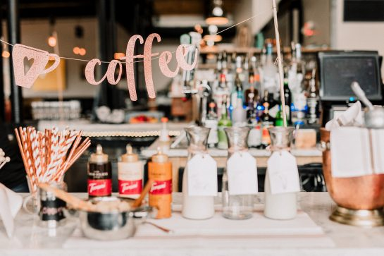 Tips for Setting up a Coffee Bar for your Party! Invite a few freinds over and host a casual coffee bar party right at home or set it up for a large party!