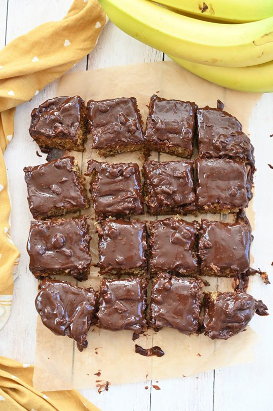 Banana Bread Brownies with Chocolate Peanut Butter Ganache recipe