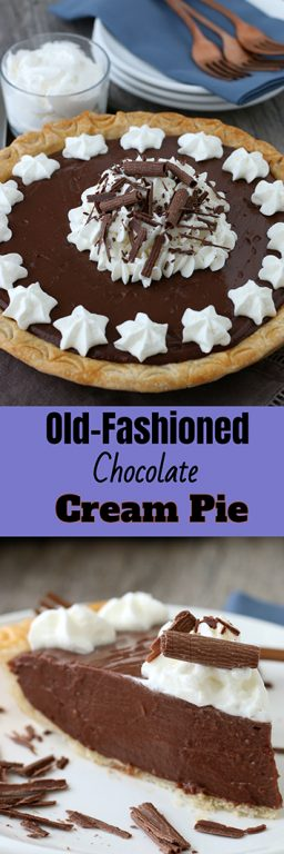 Homemade chocolate pie is the kind of dessert that dreams are made of. It's got homemade chocolate pudding from scratch, perfectly fluffy whipped cream, and it is easier to make than you might think!