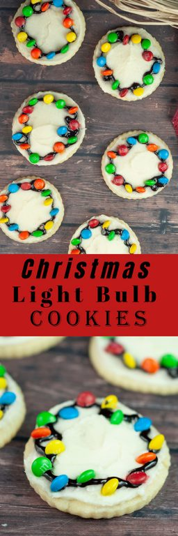Christmas Light Bulb Cookies recipe made with mini M&M's are a fun treat to make with your kids for the holidays! These will become a holiday tradition and are so impressive!