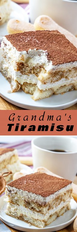 Grandma's Tiramisu is an authentic classic coffee-flavored Italian dessert idea for the holidays. This is one of my favorite desserts : Christmas, Thanksgiving, & Easter and is actually pretty simple to make, just takes some time!