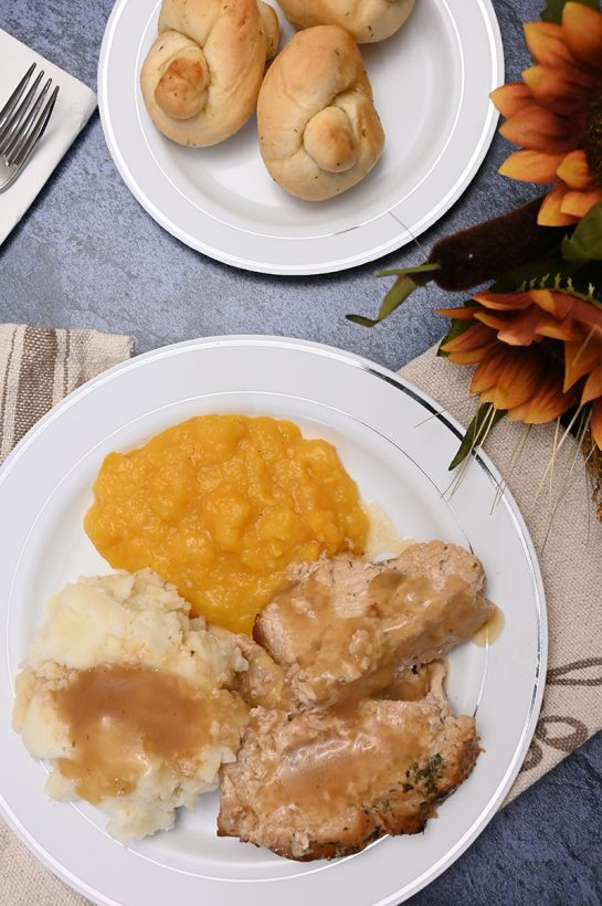 A Thanksgiving dinner bought at BJ's Wholesale Club