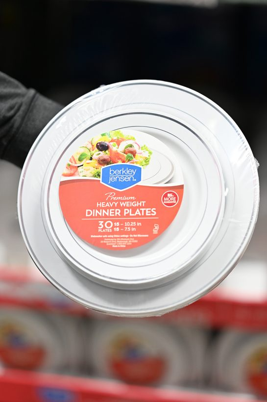 Plastic plates bought at BJ's Wholesale Club