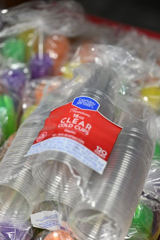 Plastic cups bought at BJ's Wholesale Club