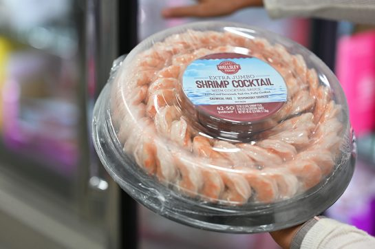 Shrimp cocktail tray at BJ's Wholesale Club