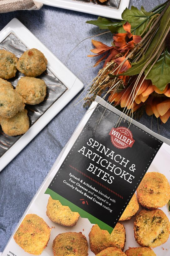 Spinach Artichoke Bites in the box at BJ's Wholesale Club