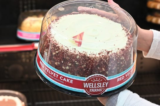 Wellsley Farms red velvet cake at BJ's wholesale club