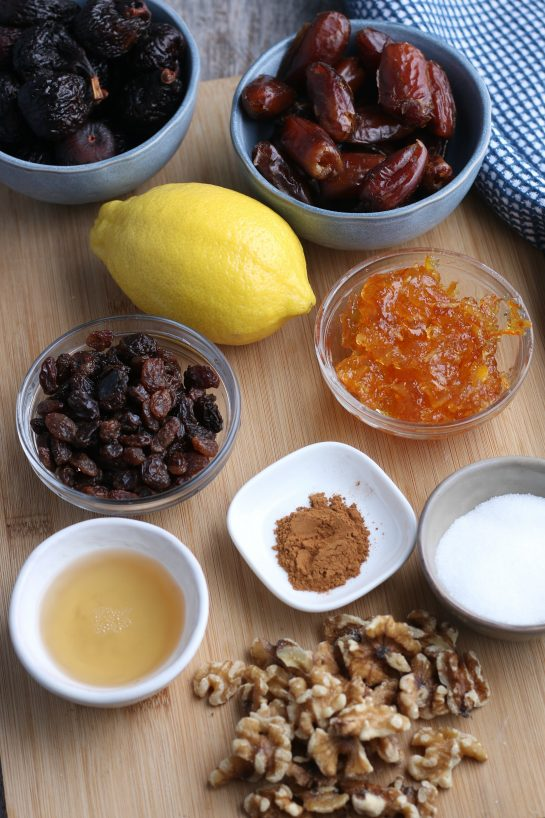 These are the ingreidents needed for filling for the recipe for fig cookies.