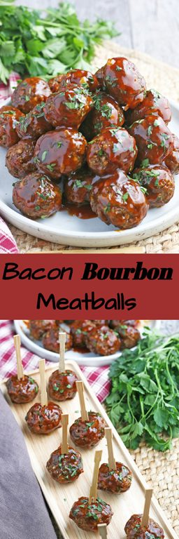 These bacon bourbon homemade meatballs could not be easier. I'll show you how to make meatballs that are simple, flavorful, and perfect for appetizers, subs, and pasta. This is an easy meatballs recipe that everyone will love.