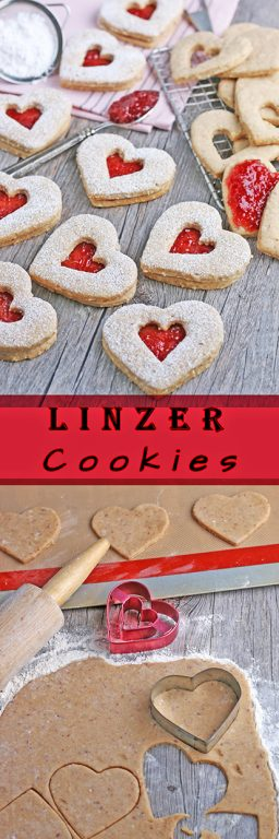Love is in the air! It's time for heart shaped cookies to share with our Valentines! These Linzer cookies are perfect for sharing with someone special. This special recipe for Linzer cookies also includes some history on the Linzer tart.