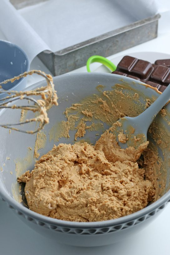 It's going to be difficult to avoid eating this delicious batter for our eggs before they're finished!