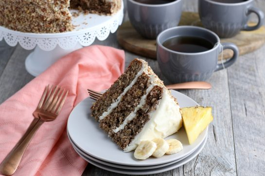 Homemade Hummingbird Cake is a beloved, classic southern cake recipe packed with banana and pineapple that looks so impressive for a holiday or birthday party!