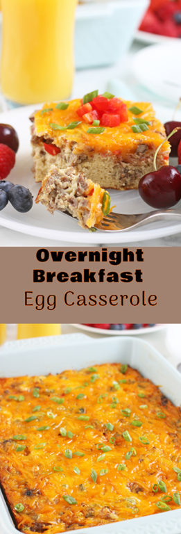 This delicious breakfast egg casserole is made in advance, specifically overnight. My overnight egg casserole is made with egg and sausage and your choice of vegetables and seasonings. I'll show you how to quickly and easily make a hot breakfast that the whole family will enjoy.