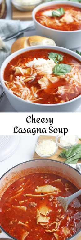 This recipe for lasagna soup is one of my favorites. This is a cheesy lasagna soup that is very indulgent, all the hearty ingredients of a perfect lasagna in soup form! I'll show you how to make lasagna soup with fresh, delicious ingredients!