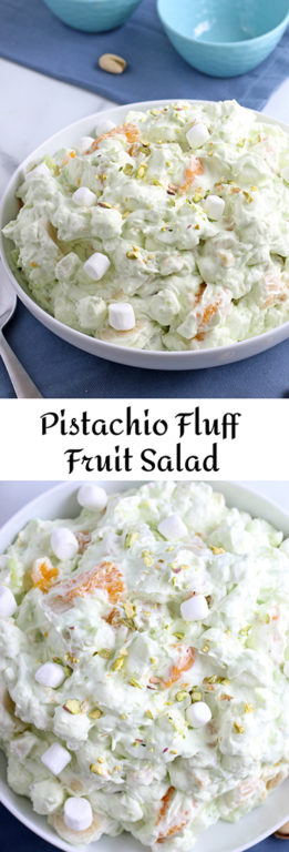 Making this pistachio salad is quick, easy, and cheap. It doesn't matter if you call it watergate salad, pistachio fluff, or pistachio fruit salad, they're all names for the same delicious dessert!
