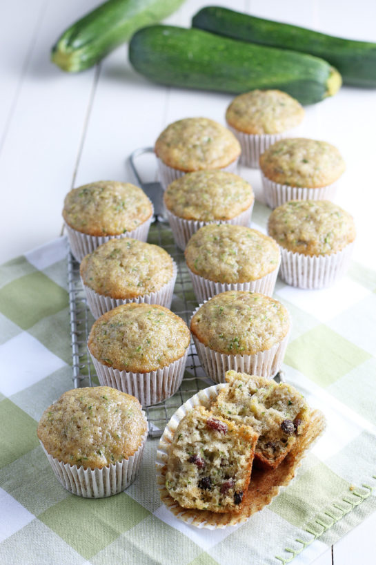 Super soft Zucchini Muffins recipe with a little spice from cinnamon, a lot of zucchini, and a dessert but can be passed off as a breakfast dish!
