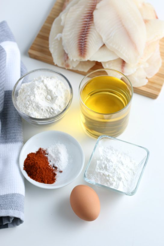 Ingredients needed to make the beer-battered Baja Fish Tacos recipe:
