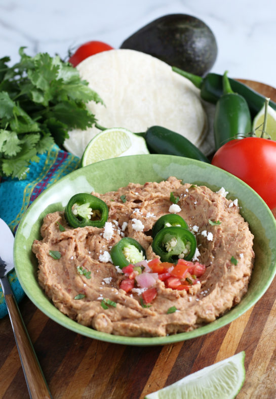 Homemade Refried Beans recipe that is so good you will never go back to store-bought! They are even better than at a Mexican restaurant!