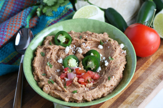 Homemade Refried Beans recipe that is so good you will never go back to store-bought! They taste just like the restaurant refried beans!
