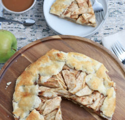 This Apple Crostata recipe is a simple, rustic tart filled with sweet apple filling and is one of our favorite new ways to enjoy one of our favorite fall fruit!
