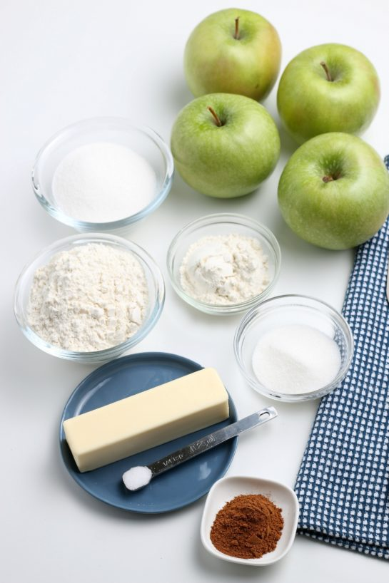 Ingredients needed to make the apple crostata recipe