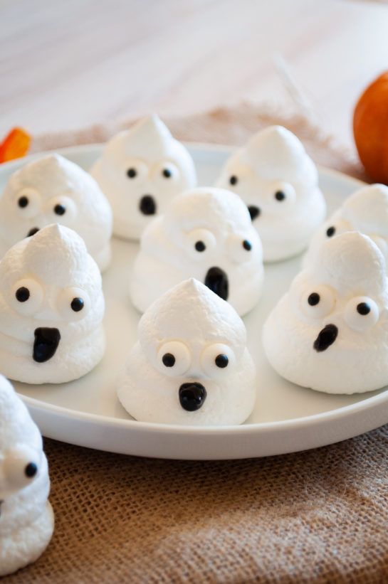 Halloween Boo Meringues are an incredibly fun and easy Halloween recipe for kids for a party! The whole family will love them!