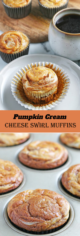 Gorgeous Pumpkin Cream Cheese Muffins are a tasty treat for snacking, breakfast, and more. These pumpkin cream cheese swirl muffins are easy to make for fall or Thanksgiving!