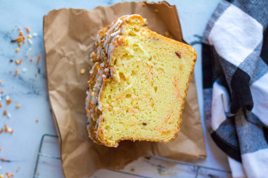 Simple Fall Confetti Sweet Bread recipeis super moist and flavorful. This breakfast or dessert bread is easy to make and doesn't require a mixer - only a bowl, spatula and bread loaf pan. This is a great snack for Thanksgiving!