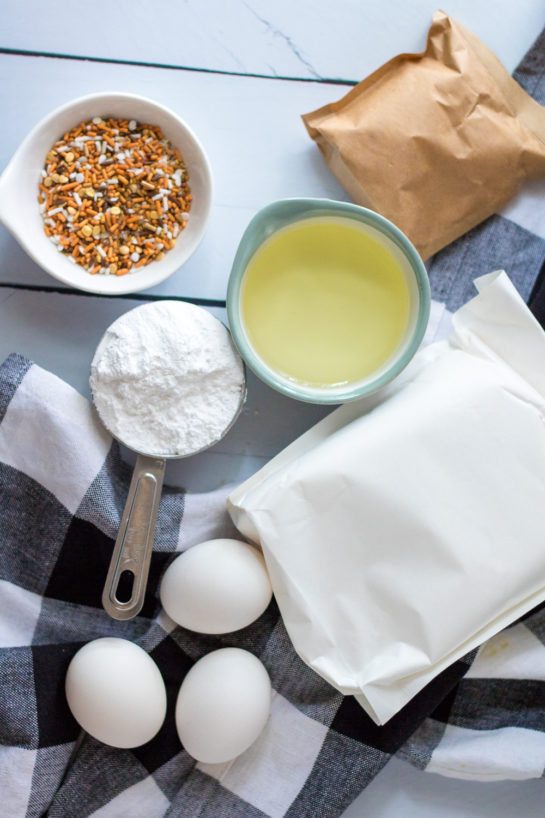 Ingredients needed to make the Easy Fall Confetti Sweet Bread recipe