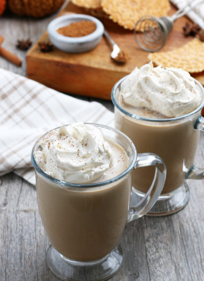 This Homemade Pumpkin Spice Latte recipe is a coffee drink made with a mix of traditional autumn spice flavors. The combination of coffee with baking spices like cinnamon is an excellent cool-weather drink!
