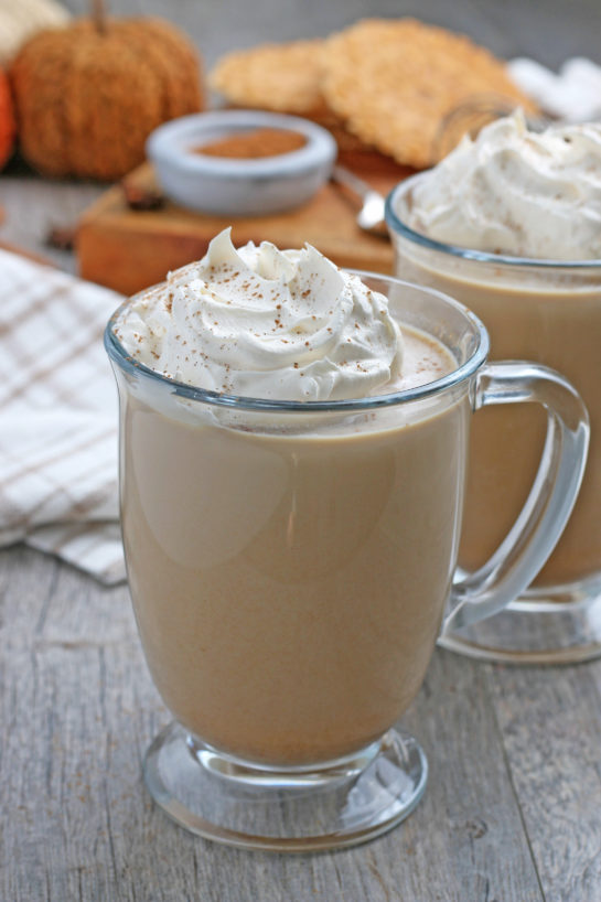 This Homemade Pumpkin Spice Latte recipe is a coffee drink made with a mix of traditional autumn spice flavors. The combination of coffee with baking spices like cinnamon is the perfect fall drink!
