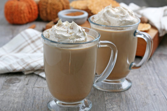 Easy Homemade Pumpkin Spice Latte recipe is a coffee drink made with a mix of traditional autumn spice flavors. The combination of coffee with baking spices like cinnamon is the perfect fall drink!