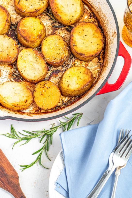 Easy weeknight Melting Potatoes recipe might just become your new go-to side dish for Thanksgiving, Easter and Christmas!