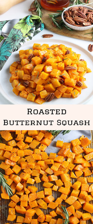 This Roasted Butternut Squash recipe has so much flavor and is a delicious side dish for Thanksgiving and Christmas!It is so tasty and a little different than the standard fare for any holiday!