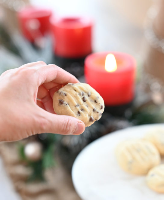 Fast and Easy Chocolate Chip Shortbread Cookies recipe are my favorite Christmas cookie recipe! These cookies areso tender, buttery and delicate! The chocolate chips are the perfect addition.
