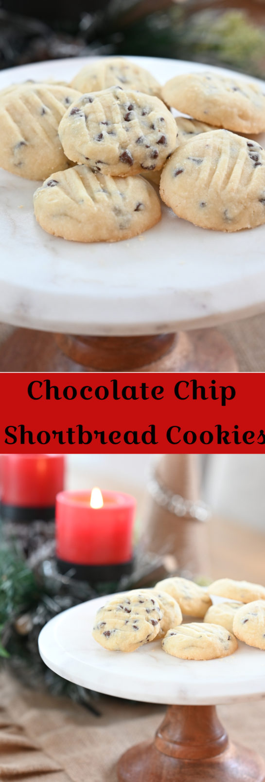 BEST Chocolate Chip Shortbread Cookies recipe are my favorite Christmas cookie recipe! These cookies areso tender, buttery and delicate! The chocolate chips are the perfect addition.