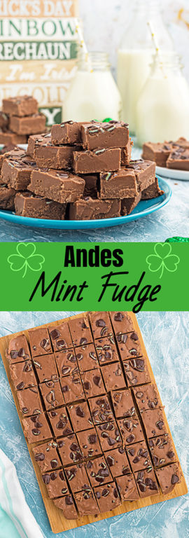 An easy holiday recipe for Andes Mint Fudge!Rich, mint chocolate flavored Andes fudge will quickly become one of yourfavoritefudge recipes!