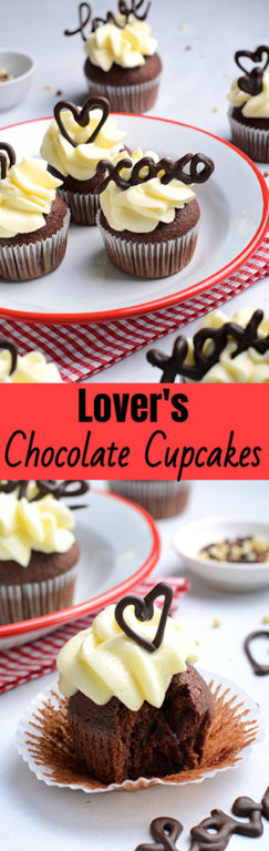 Fun Lover's Chocolate Cupcakes recipe: Valentine's Day Chocolate Cupcakes that are elegant and gourmet treats made with no special skills and equipment. Show your Valentine how much you love them!
