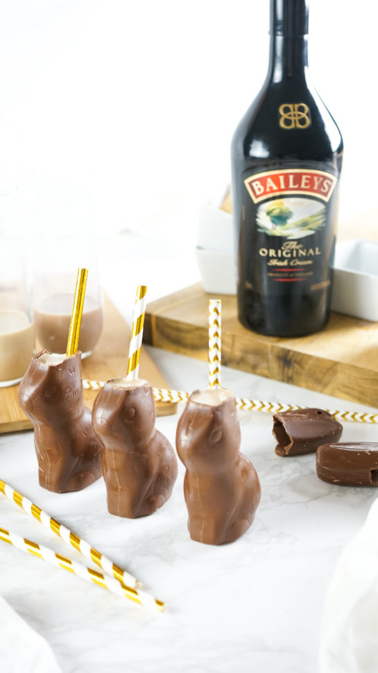 Bailey's Chocolate Bunny Cocktail recipe is a sweet, very chocolatey drink that is a delightful treat for adults and equally as fun! You can easily leave out the Bailey's and make it kid-friendly chocolate milk drink they will love.