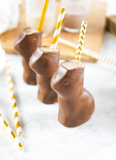 Bailey's Chocolate Bunny Cocktail recipe is a sweet, very chocolatey drink that is a delightful treat for adults and equally as fun! You can easily leave out the Bailey's and make it kid-friendly chocolate drink they will love.