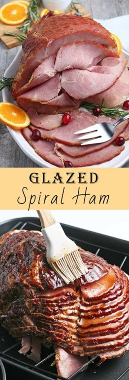 This easy recipe for Glazed Spiral Ham with a sweet glaze uses a fully-cooked ham and is a great centerpiece for your Christmas, Easter, or Thanksgiving dinner table! The flavor and texture will be a show-stopper!This recipe for Glazed Spiral Ham with a sweet glaze uses a fully-cooked ham and is a great centerpiece for your Christmas, Easter, or Thanksgiving dinner table! The flavor and texture will be a show-stopper!