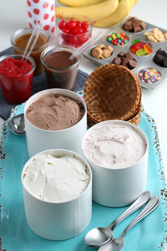 Build your own Ice Cream Sundae Bar or ice cream social party that's perfect for any kind of celebration! Jazz up your birthdays, graduations, or just a regular Saturday with friends!