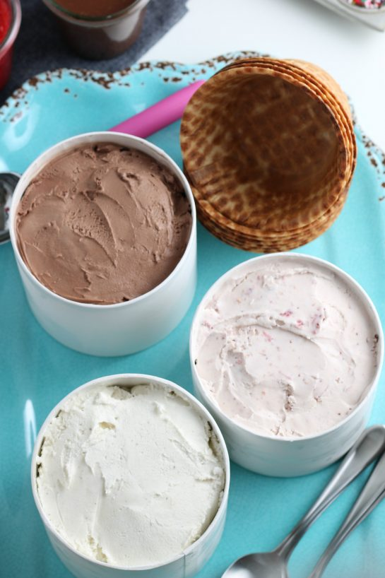 Create your own Ice Cream Sundae Bar or ice cream social party that's perfect for any kind of celebration! Jazz up your birthdays, graduations, or just a regular weekend party with friends!